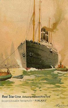 Red Star Line - Ocean Liner Postcards