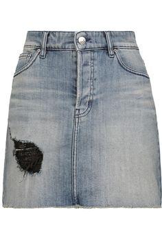 IROChicago distressed denim mini skirt