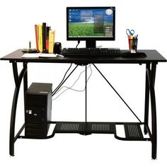 Foldable Laptop Desk Adjustable Home Office Table Computer Writing Steel Black Gaming Desk Table, Good Gaming Desk, Gaming Computer Desk, Gaming Desktop, Laptop Table, Home Office Table, Home Desk, Home Office Desks, Home Office Furniture
