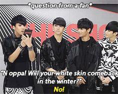 {gif} LOL n and his dark skin <3 VIXX