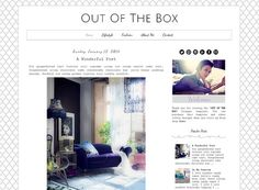 Premade Blogger Template   Out Of The Box  by LisasMenagerie, $35.00 Blogger Templates, Web Design Inspiration, Social Media, Graphic Design, Box, Etsy, Ideas, Snare Drum, Social Networks