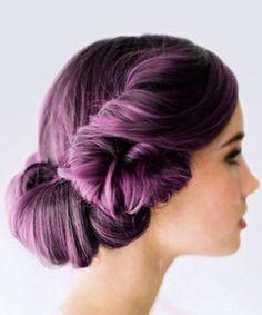 Purple locks