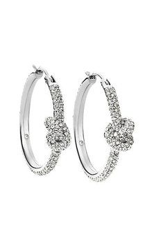 Michael Kors Brilliance Knot Crystal Pave Silver Tone Hoop Earrings MKJ4199. Get the lowest price on Michael Kors Brilliance Knot Crystal Pave Silver Tone Hoop Earrings MKJ4199 and other fabulous designer clothing and accessories! Shop Tradesy now