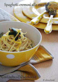 Spaghetti cremosi alle zucchine