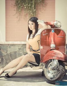 Classic Vespa Pinup Calendar Recreation Project by Frederik Wissink, via Behance