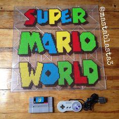 Super Mario World perler beads by mastablasta3