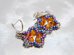 Astra Princess - Astral Pink Swarovski Star Earrings by WhimsyBeading, $15.00