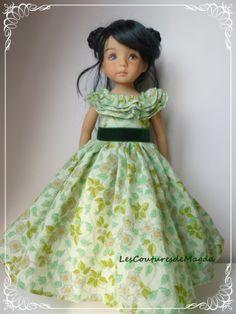 Robe de Scarlett O'hara pour une poupée Little Darling Effner