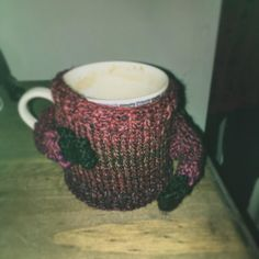 Started to knit these adorable jumper mug cosies ready for winter!