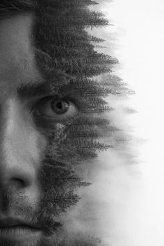 """Do you like double-exposure photography? """"self portrait """" by illspl"""