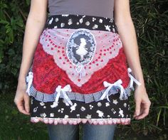 Holly Loves Art: Three Years of Making Art Aprons - several photos of her creations