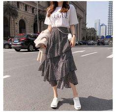 Korean Fashion Summer Street Styles, Korean Fashion Dress, Fall Fashion Outfits, Look Fashion, Street Style Women, Summer Outfits Korean, Swag Fashion, Fashion Men, Korea Fashion