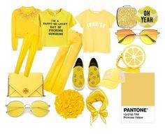 """Primrose Yellow"" by maafee18 on Polyvore featuring moda, Shiraleah, Miu Miu, Love Moschino, MANGO, Illamasqua, Tory Burch, Paul Smith, Disaster Designs e Billabong"