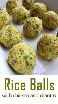 Chicken Rice Balls Recipe