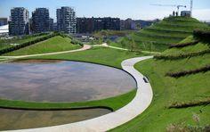 Parco del Portello / Publico, es un otro parque muy moderno que hay cerca de Monstella, siempre zona San Siro. Que se puede armar un muy buen e escenario.