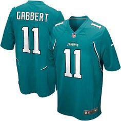 Youth Nike Jacksonville Jaguars #11 Blaine Gabbert Game Team Color Green Jersey $59.99