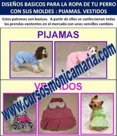curso corte confeccion ropa perros pijamas vestidos mascotas moldes