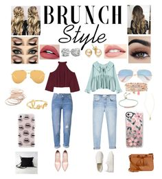 """2 brunch outfits"" by andreacoreas on Polyvore featuring MANGO, W118 by Walter Baker, Gap, Kate Spade, Ray-Ban, Linda Farrow, Accessorize, Monica Vinader, Red Camel and Sydney Evan"