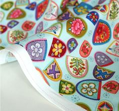Korea Traditional Thimbles Pattern Cotton Fabric by luckyshop0228, $11.85