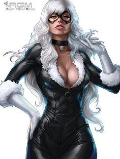 Dans Marvel, Félicia Hardy est une cambrioleuse new-yorkaise comme son père. Elle est aussi connue pour être éperdument amoureuse de Spiderman. Elle répond au surnom de Black Cat (chatte noire) car elle porte la poisse !