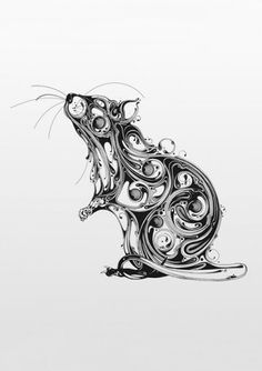 stylized rattie tat = possibility of being a tattoo <3