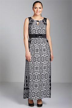 Sara Notch Neck Maxi Dress