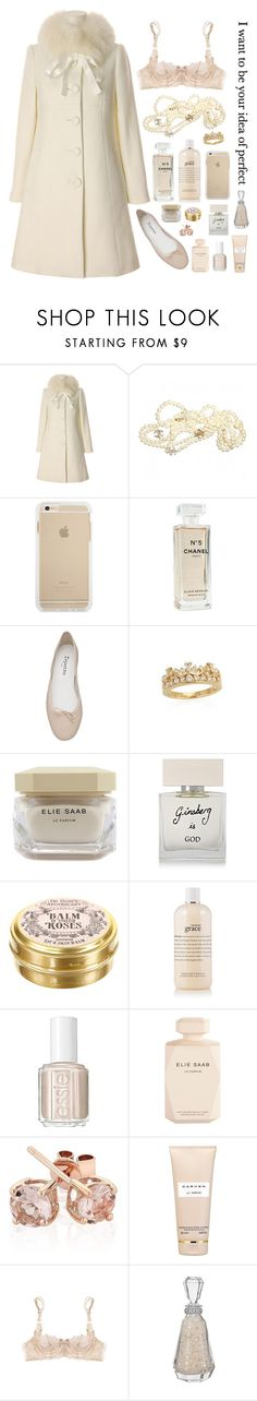 """""""Your idea of perfect"""" by a-drop-in-the-0-cean ❤ liked on Polyvore featuring Chanel, Repetto, Crislu, Elie Saab, Bella Freud, philosophy, Essie, Reeds Jewelers, Carven and Myla"""