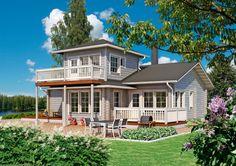 Kontio Mesi Wooden House, Second Floor, Cabin, Flooring, Mansions, Interior Design, House Styles, Classic, Home Decor