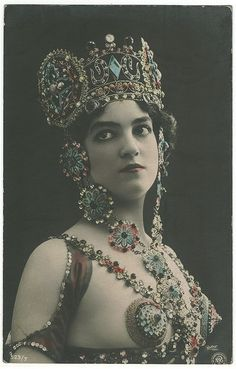 Another great photo postcard by Reutlinger Photography of France. Unnamed model.