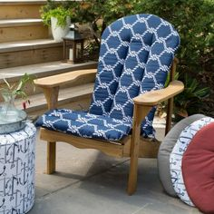 Bullnose Contoured Outdoor Chair Cushion   Dining Cushions   Outdoor  Cushions U0026 Pillows   Outdoor | HomeDecorators.com | Wishes | Pinterest | Outdoor  Chair ...