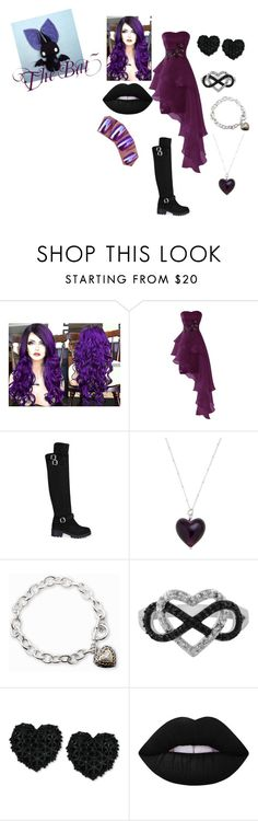 """""""The Bat~"""" by kyouya on Polyvore featuring Martick, Lord & Taylor, Jewel Exclusive, Betsey Johnson and Lime Crime"""