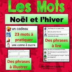 Une ressource GRATUITE pour  Noël - pratiquez le vocabulaire avec vos élèves A FREE Christmas resource for practicing French vocabulary with your students.