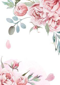 Акварельная Роза, Цветочные Фоны, Цветочные Обои, Обои Фоны, Обои, Картины С Парами, Роза Иллюстрации, Акварельные Портреты, Цветочный Логотип