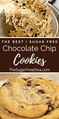 Sugar Free Deserts, Sugar Free Snacks, Sugar Free Baking, Sugar Free Sweets, Sugar Free Cookies, Sugar Free Recipes, No Sugar Desserts, Easy Cookie Recipes, Healthy Dessert Recipes