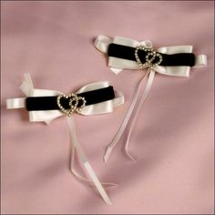 Accent Bows - Two Hearts - Ivory