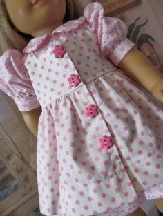Dot Vintage Style  Dress  for American Girl Doll by fashioned4you, $22.00