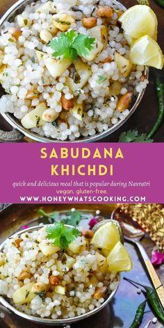 Sabudana Khichdi #vegan #glutenfree #sabudanakhichdi