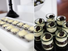 A Blissful Nest Sweet Style Black White birthday 5 {BN Black Book of Parties} Black and White Dessert Table Dessert Table Birthday, Birthday Party Desserts, Halloween Desserts, Halloween Party, White Dessert Tables, White Desserts, Sweet 16 Birthday, 40th Birthday, Birthday Ideas