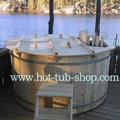 BALTIC Hot tub 220 CM Spruce with INTERNAL wood fired heater Wooden Bath Barrel | eBay