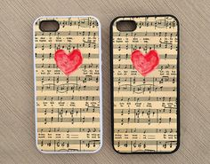 Music Sheet Heart Love iPhone Case iPhone 5 Case by BeeCoolShop, $11.95