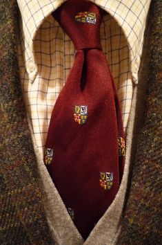 "heavytweedjacket: ""Shetland tweed Thursday with a Brooksweave tattersall & a Press tie. """