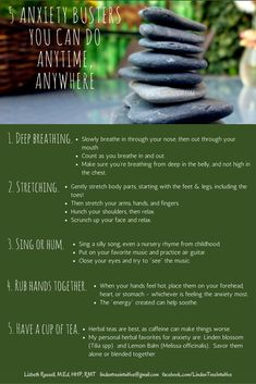 5 Anxiety Busters you can do anytime, anywhere. Simple Way, 5 Ways, You Can Do, Something To Do, Breathe, Anxiety, Health, Health Care, Salud
