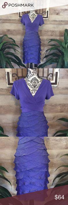 cc16286cd36 Adrianna Papell Purple Layered Flattering Dress