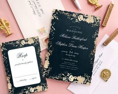 Wedding Invitations - Select printing options and begin customizing your card for design 54176 Different Wedding Ideas, 21st Birthday Cards, Wedding Stationery Inspiration, Black Wedding Invitations, Home Wedding, Card Sizes, Thank You Cards, Wedding Cards, Rsvp