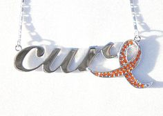 Orange Ribbon: Leukemia, Multiple Sclerosis, Muskeldystrophie Awareness by Go Sports Jewelry.com