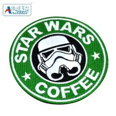 Star Wars Coffee badge armbands embroidered storm trooper patches