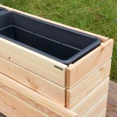 Pflanzkasten / Pflanzkübel Holz, Pflanzeinsatz Mehr
