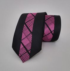 Men's Tie - Black Men's Necktie - Black Cravat - SL306 #handmadeatamazon #nazodesign
