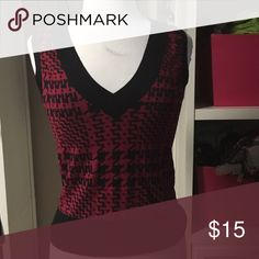Express sweater vest Black and red express sweater vest Express Sweaters