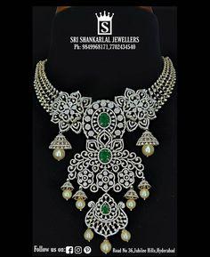 Necklace Ideas, Emerald Diamond, Diamond Jewellery, Bridal Looks, Indian Jewelry, Layers, Diamonds, Chokers, Jewels